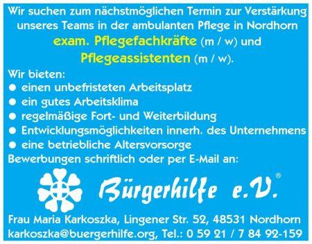 exam. Pflegefachkräfte, Pflegeassistenten gesucht, ambulanter Pflegedienst Nordhorn