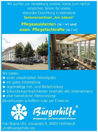 """Pflegeassistenten, Pflegefachkräfte, Seniorenzentrum """"Am Juleum"""", Helmstedt"""