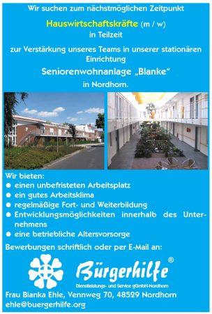 Hauswirtschaftskräfte, Seniorenwohnanlage 'Blanke', Nordhorn