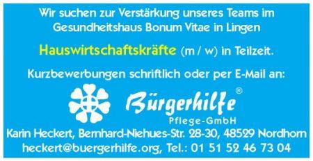 Hauswirtschaftskräfte, Bonum Vitae, Lingen