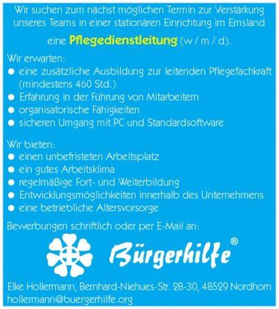 Pflegedienstleitung, Landkreis Emsland