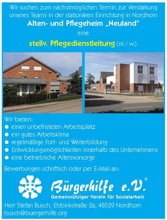 stellv. Pflegedienstleitung, Alten- und Pflegeheim 'Neuland', Nordhorn