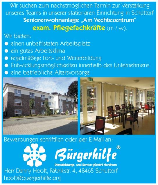 exam. Pflegefachkräfte, Seniorenwohnanlage 'Am Vechtezentrum', Schüttorf