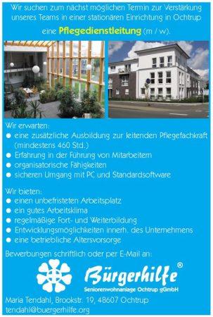 Pflegedienstleitung, Seniorenwohnanlage 'Bürgerhilfe-Atriumhaus', Ochtrup