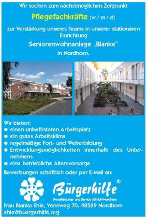 exam. Pflegefachkräfte, Seniorenwohnanlage 'Blanke', Nordhorn