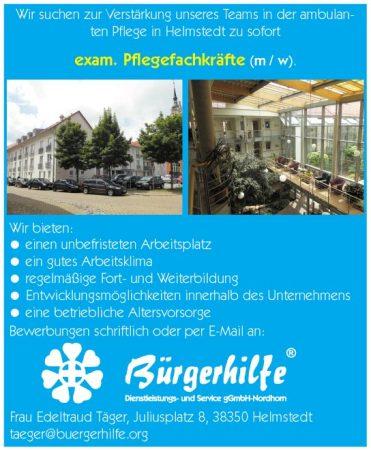 Pflegefachkräfte, ambulanter Pflegedienst, Helmstedt