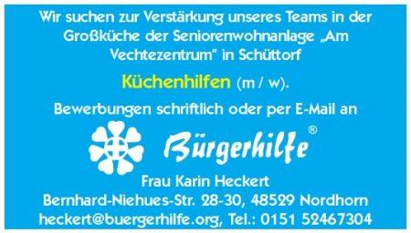 Küchenhilfen, Seniorenwohnanlage Am Vechtezentrum, Schüttorf