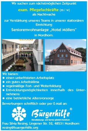 exam. Pflegefachkraft, Seniorenwohnanlage Hotel Möllers, Nordhorn