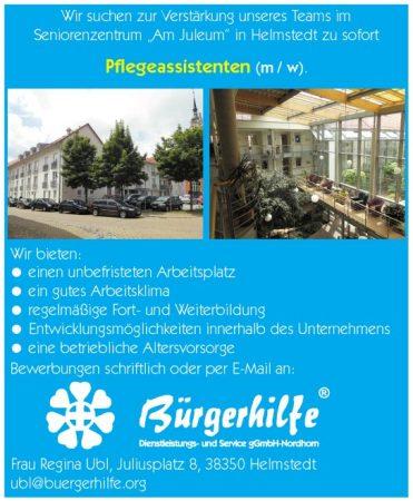 Pflegeassistenten, Seniorenzentrum Am Juleum, Helmstedt