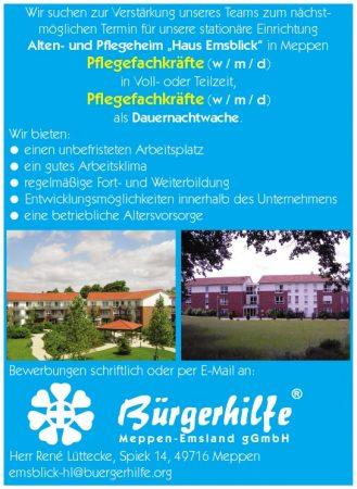 exam. Pflegefachkräfte, Alten- und Pflegeheim 'Haus Emsblick', Meppen