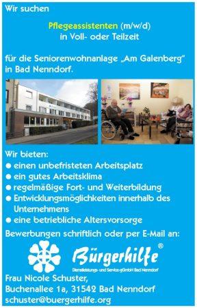 Pflegeassistenten, Seniorenwohnanlage 'Am Galenberg', Bad Nenndorf