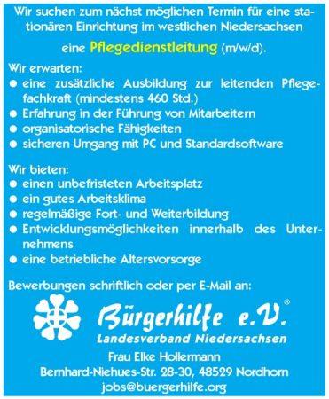 Pflegedienstleitung, westliches Niedersachsen