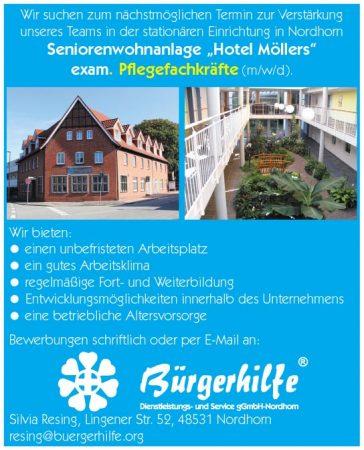 exam. Pflegefachkräfte, Seniorenwohnanlage Hotel Möllers, Nordhorn