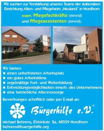 """exam. Pflegefachkräfte, Pflegeassistenten, Alten- und Pflegeheim """"Neuland"""", Nordhorn"""