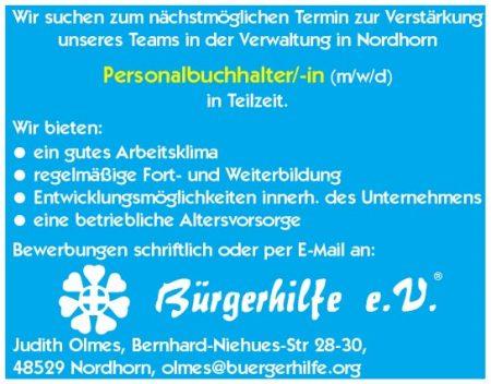 Personalbuchhalter, Zentralverwaltung, Nordhorn
