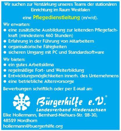 Pflegedienstleitung, Raum Westfalen