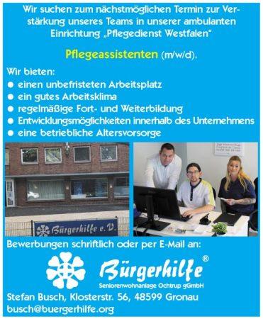 """Pflegeassistenten, """"Pflegedienst Westfalen"""", Gronau"""