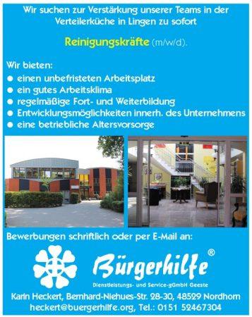 """Reinigungskräfte, Gesundheitshaus """"Bonum Vitae"""", Lingen"""