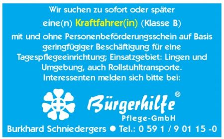 "Kraftfahrer. Gesundheitshaus ""Bonum Vitae"", Lingen"
