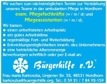 exam. Pflegefachkräfte, Pflegeassistenten, Ambulanter Pflegedienst, Nordhorn
