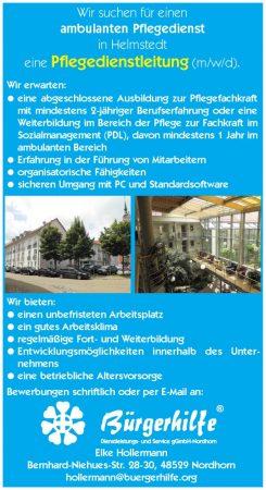 Pflegedienstleitung, ambulanter Pflegedienst, Helmstedt