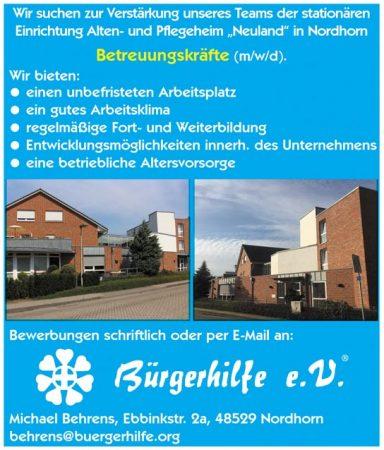 """Betreuungskräfte, Alten- und Pflegeheim """"Neuland"""", Nordhorn"""