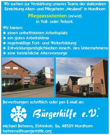 """Pflegeassistenten, Alten- und Pflegeheim """"Neuland"""", Nordhorn"""