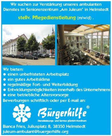 stellv. Pflegedienstleitung, ambulanter Pflegedienst, Helmstedt