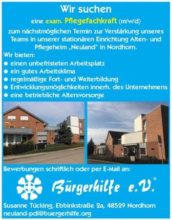 """exam. Pflegefachkraft, Alten- und Pflegeheim """"Neuland"""", Nordhorn"""
