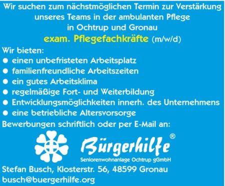 exam. Pflegefachkraft, ambulanter Pflegedienst, Ochtrup, Gronau