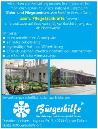 """Pflegefachkraft, Wohn- und Pflegezentrum """"Am Park"""", Geeste-Dalum"""
