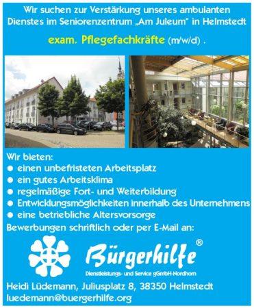 exam. Pflegefachkräfte, ambulanter Pflegedienst, Helmstedt