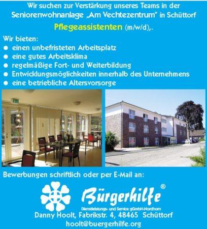 """Pflegeassistenten, Seniorenwohnanlage """"Am Vechtezentrum"""", Schüttorf"""