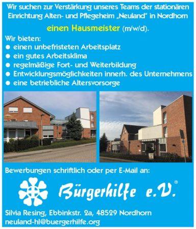 """Hausmeister, Alten- und Pflegeheim """"Neuland"""", Nordhorn"""